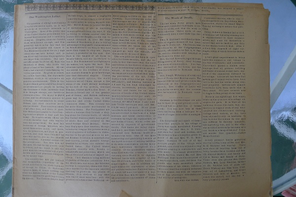Wall of text on an inner page