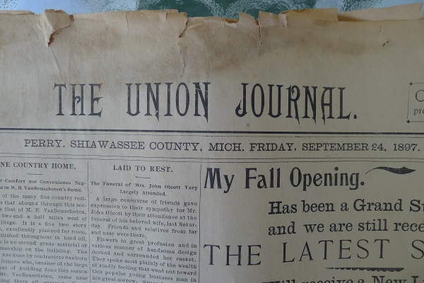 Union Journal front page